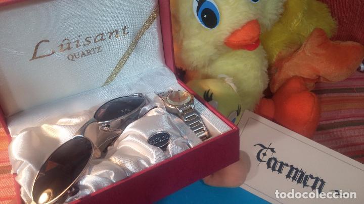 Relojes: Botito conjunto formado por reloj y gafas, stop de tienda, P.V.P en su día de 250 dolares - Foto 7 - 102402191