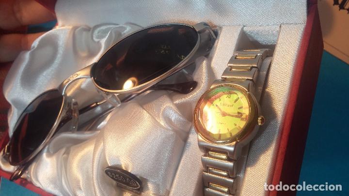 Relojes: Botito conjunto formado por reloj y gafas, stop de tienda, P.V.P en su día de 250 dolares - Foto 8 - 102402191