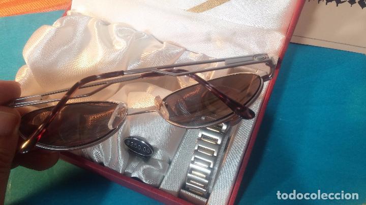 Relojes: Botito conjunto formado por reloj y gafas, stop de tienda, P.V.P en su día de 250 dolares - Foto 10 - 102402191