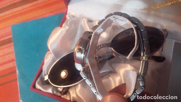 Relojes: Botito conjunto formado por reloj y gafas, stop de tienda, P.V.P en su día de 250 dolares - Foto 13 - 102402191