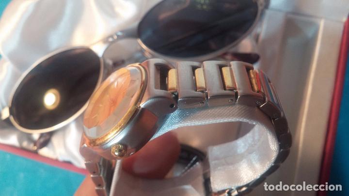 Relojes: Botito conjunto formado por reloj y gafas, stop de tienda, P.V.P en su día de 250 dolares - Foto 14 - 102402191