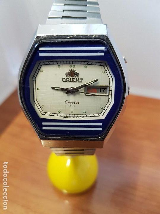 Relojes  Reloj caballero (Vintage) ORIENT automático acero con doble  calendario 5551b6cde215
