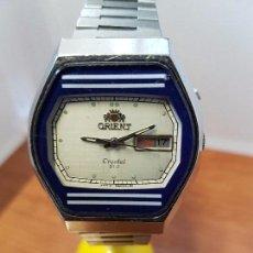Relojes: RELOJ CABALLERO (VINTAGE) ORIENT AUTOMÁTICO ACERO CON DOBLE CALENDARIO, CORREA ACERO, TODO ORIGINAL.. Lote 102536335