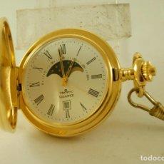 Relojes: TEMPIC QUARTZ FASES DE LUNA FUNCIONANDO CON LEONTINA. Lote 102665651