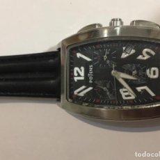Relojes: RELOJ POTENS CONOGRAFO EN ACERO Y CORREA DE PIEL. Lote 103857155
