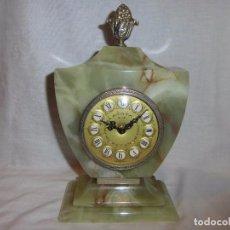 Relojes: BONITO RELOJ DE SOBREMESA EN MARMOL NO FUNCIONA (PILAS)MARCA TELART VIAREGGIO. Lote 104175959