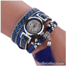Relojes: RELOJ MUJER AZUL BRILLANTE. Lote 104289039