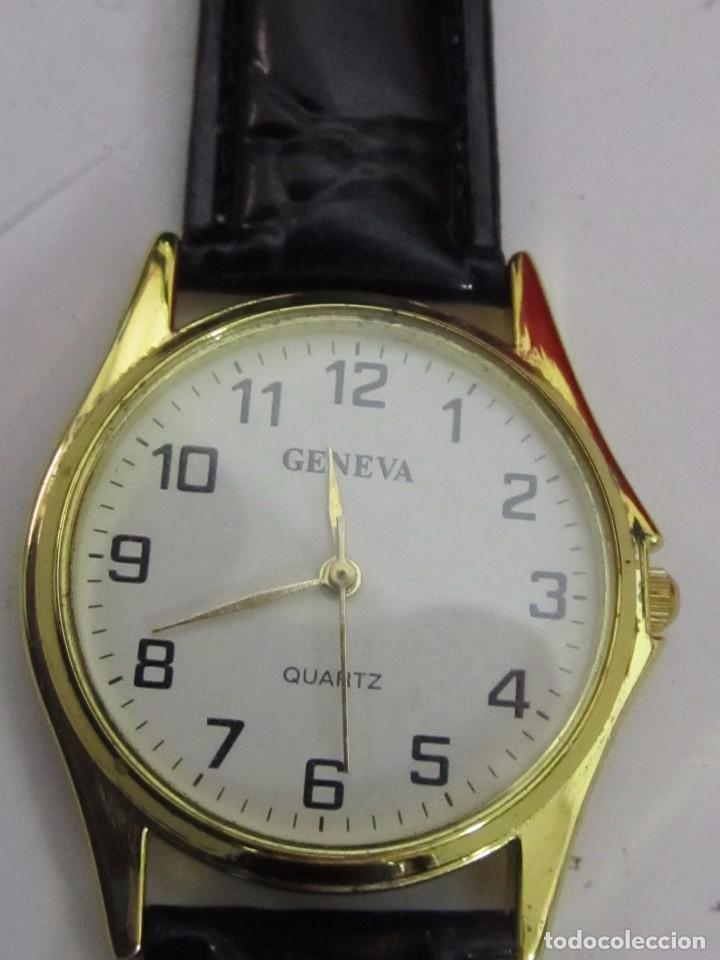Relojes: RELOJ GENEVA DE CUARZO CHAPADO EN ORO - Foto 2 - 104611895