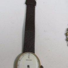 Relojes: RELOJ GRASTENY CUARZO CHAPADO EN ORO. Lote 104706943