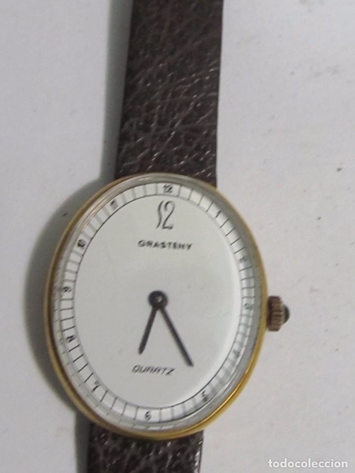 Relojes: RELOJ GRASTENY CUARZO CHAPADO EN ORO - Foto 2 - 104706943