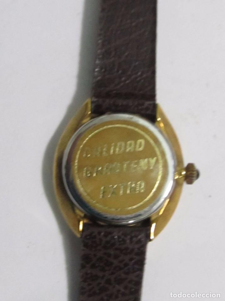 Relojes: RELOJ GRASTENY CUARZO CHAPADO EN ORO - Foto 3 - 104706943