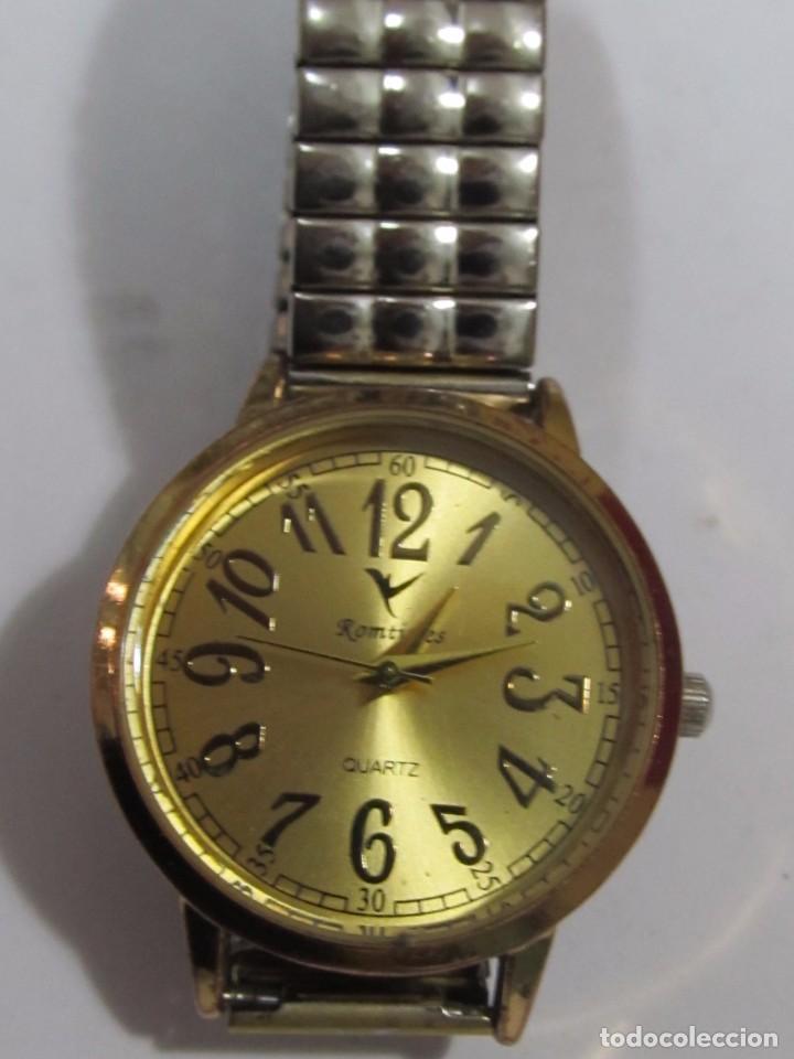 Relojes: RELOJ ROMTIMES DE CUARZO CHAPADO EN ORO - Foto 2 - 105097695