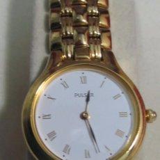 Relojes: RELOJ PULSAR DE CUARZO, CHAPADO EN ORO - CON ESTUCHE. Lote 105349571