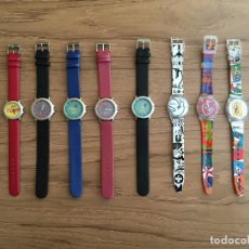 Relojes: LOTE COLECCIÓN OFICIAL 10 RELOJES FORUM BARCELONA 2004. Lote 105809923