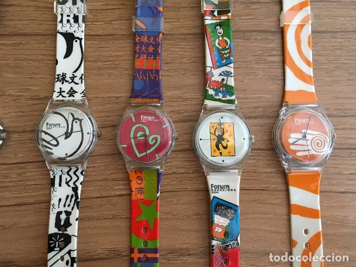 Relojes: LOTE COLECCIÓN OFICIAL 10 RELOJES FORUM BARCELONA 2004 - Foto 3 - 105809923