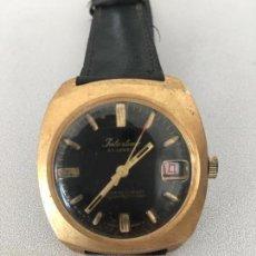 Relojes: RELOJ MECANICOINTERTIME MADE SWISS 23 RUBIS CHAPADO EN ORO FUNCIONANDO LUPA DIAL. Lote 105899187
