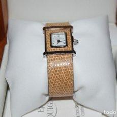 Relojes: RELOJ PEQUIGNET CAMELEON CAJA DE ACERO CRISTAL ZAFIRO CORREA DE PIEL WATCH CUARZO QUARTZ. Lote 106218571
