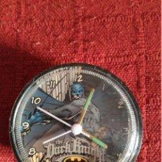 Relojes: RELOJ DESPERTADOR BATMAN FUNCIONANDO. Lote 106567499
