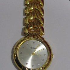 Relojes: RELOJ SUIZO DE CUARZO, CHAPADO EN ORO. Lote 106572583