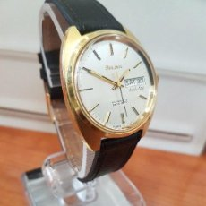 Relojes: RELOJ CABALLERO (VINTAGE) BULOVA CHAPADO DE ORO, AUTOMÁTICO CON DOBLE CALENDARIO A LAS TRES HORAS. Lote 107305687