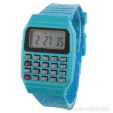 Relojes: RELOJ CALCULADORA AZUL CLASICO. NUEVO. Lote 107442195