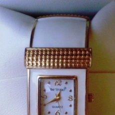 Relojes: RELOJ DE MUJER MARCA BAY STUDIO QUARTZ, CORREA DE ACERO INOXIDABLE FLEXIBLE. Lote 107539675