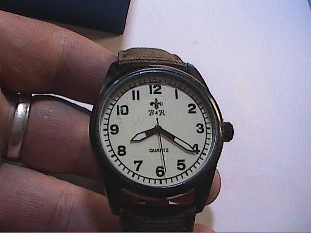 Relojes: LOTE DE RELOJ MILITAR + CARTERA DE LONA MILITAR. NUEVO A ESTRENAR. B&R. - Foto 2 - 108252343
