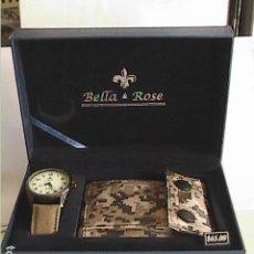 Relojes: LOTE DE RELOJ MILITAR + CARTERA DE LONA MILITAR. NUEVO A ESTRENAR. B&R.. Lote 108252343