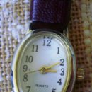 Relojes: RELOJ MARCA ADVANCE QUARTZ/ BUEN ESTADO/ CORREA DE PIEL COLOR MARRÓN OSCURO. Lote 108415803