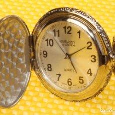 Relojes: RELOJ DE BOLSILLO JAPONES EMBASSY GRANDPA QUARTZ ESFERA 50 MM FUNCIONA BIEN.. Lote 108432443