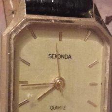 Relojes: MON 1428 RELOJ SEKONDA EN METAL DORADO PARA SEÑORA. Lote 108679931