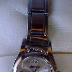 Relojes: RELOJ DE MUJER MARCA CLAIRE´S QUARTZ, CORREA DE ACERO INOXIDABLE, JAPAN MOVEMENT. Lote 109410127