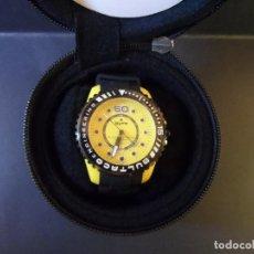 Relojes: RELOJ BULTACO ENGINEERING DEVELOPED. CAJA ACERO Y POLICARBONATO AMARILLO. QUARTZ. SIGLO XXI. Lote 109554083