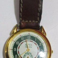 Relojes: RELOJ ALFEX DE CUARZO CHAPADO EN ORO. Lote 110237843