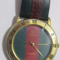 Relojes: RELOJ GUCCI DE CUARZO CHAPADO EN ORO. Lote 110238003