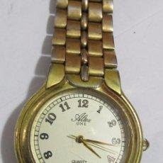 Relojes: RELOJ ALTEX ONE DE CUARZO CHAPADO EN ORO - CON CALENDARIO. Lote 110238307