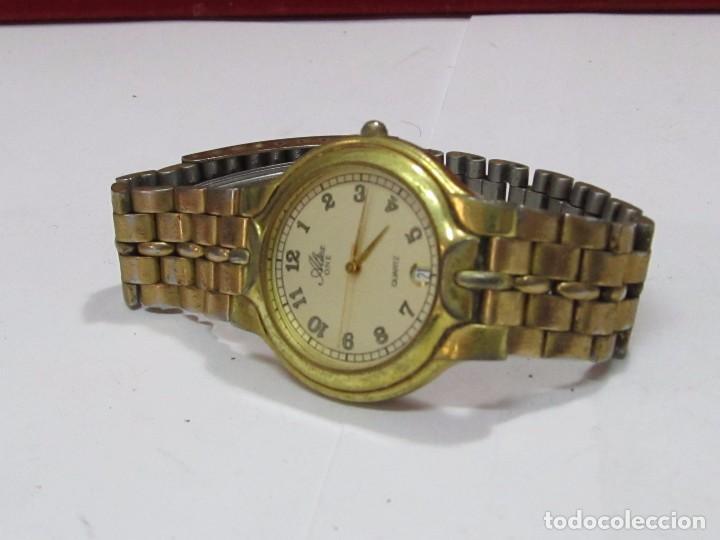 Relojes: RELOJ ALTEX ONE DE CUARZO CHAPADO EN ORO - CON CALENDARIO - Foto 2 - 110238307
