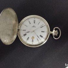 Relojes: RELOJ JUNGHANS BOLSILLO PLATA. Lote 110245759