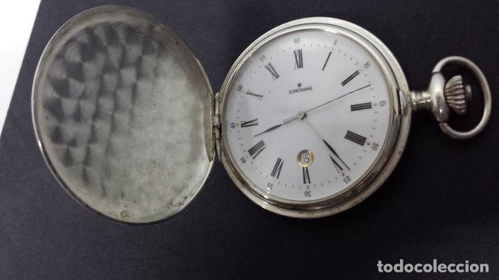 Relojes: RELOJ JUNGHANS BOLSILLO PLATA - Foto 4 - 110245759