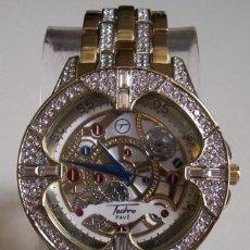 Relojes: VESTIDO DE LUJO MEN'S ICED HIP HOP BLING LABORATORIO DIAMANTES RELOJ DE MODA ESTILO RAPERO. Lote 110532167