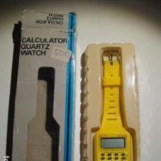 Relojes: RELOJ CALCULADORA VINTAGE AÑOS 80. Lote 110905519