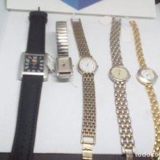 Relojes: LOTE CINCO RELOJES QUARZ FUNCIONANDO PILAS NUEVAS. Lote 111106507