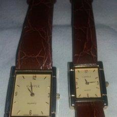 Relojes: PAREJA DE RELOJES CASTLE QUARTZ SEÑORA Y CABALLERO. Lote 111474390