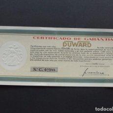 Orologi: ANTIGUA GARANTIA / RELOJ DUWARD / SELLADA EN MADRID EN 1961. Lote 112011967