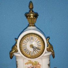 Relojes: RELOJ BOLOGNE EN CERÁMICA Y BRONCE REALIZADO EN PARÍS. Lote 112788731