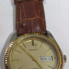 Relojes: RELOJ ORIENT DE CUARZO CON CALENDARIO, CHAPADO EN ORO. Lote 113338675