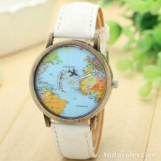 Relojes: RELOJ MAPA-MUNDI COLOR BLANCO. Lote 113830927