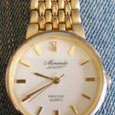 Relojes: RELOJ DORADO MIRANDA PRESTIGE CUARTZ. Lote 114162827