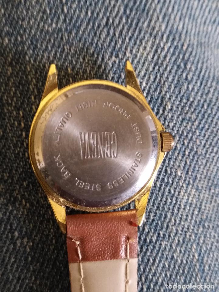 Relojes: RELOJ MARCA GENEVA QUARTZ . CORREA PIEL FALTA PICHITO DE UN LADO - Foto 2 - 114165599
