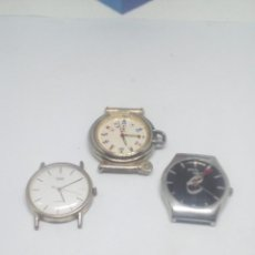 Relojes: LOTE TRES RELOJES QUARZ FUNCIONANDO PILA NUEVA. Lote 114258007